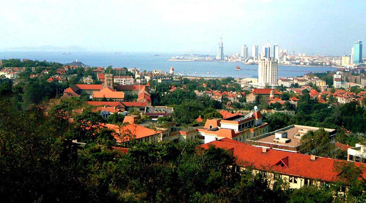 中国海洋大学  校园一角