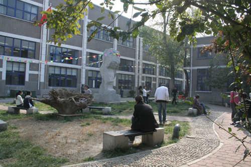 天津美术学院美术高中校园风景|天津美术学院美术高中