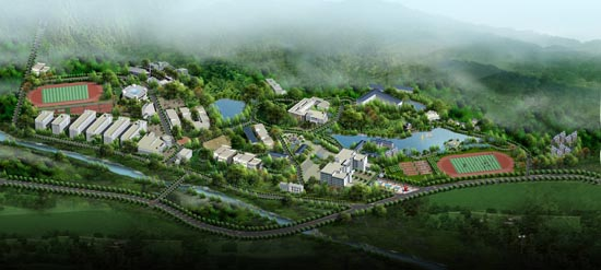 重庆大学城市科技学院校园风景|重庆大学城市科技学院